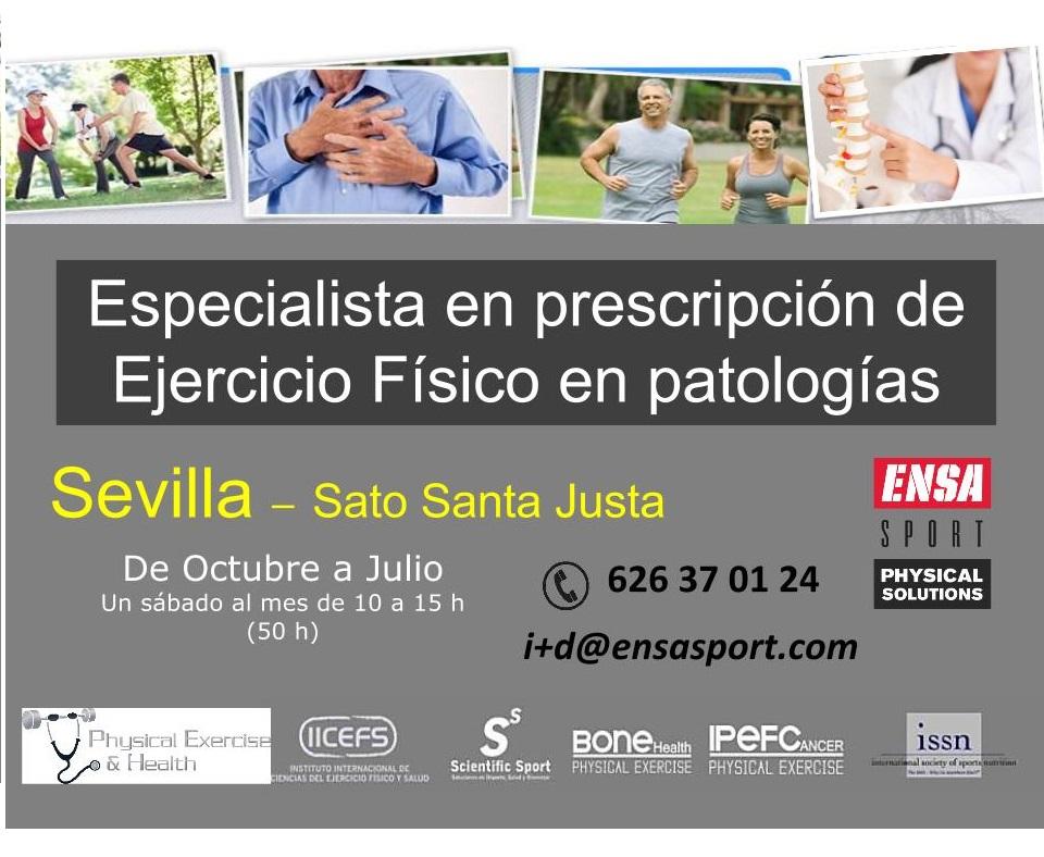 especialización en prescripción de ejercicio físico en personas con patologías
