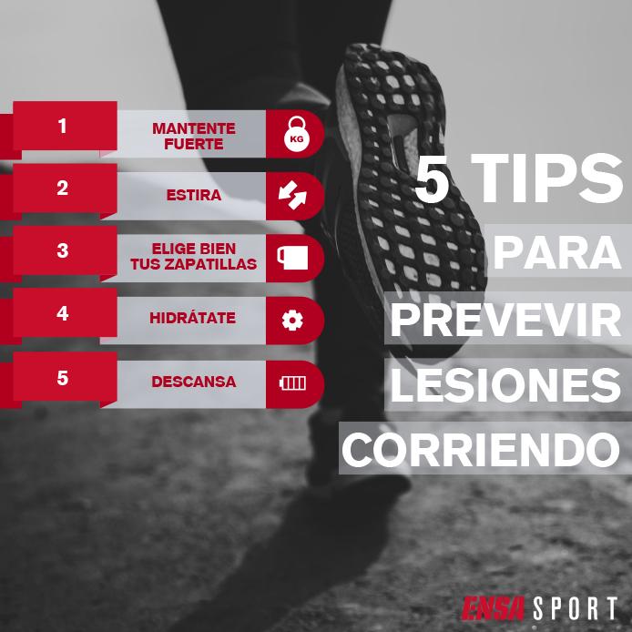 consejos para prevenir lesiones corriendo. desde ensa sport os mostramos 5 tips para prevenir lesiones en runner